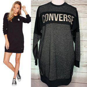 Converse cotton core sweatshirt dress s